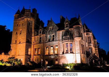 belfast castle at night