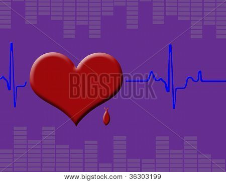Cardiograma de corazón