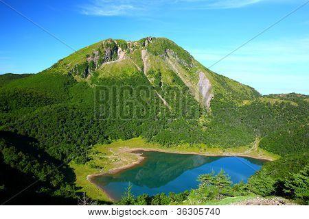 Mountain And Blue Pond