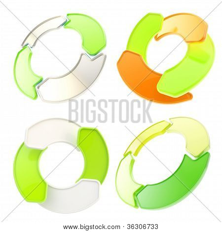 Four Arrow Copyspace Emblem Circular Round Tag