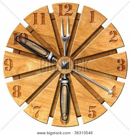 Wooden Kitchen Clock