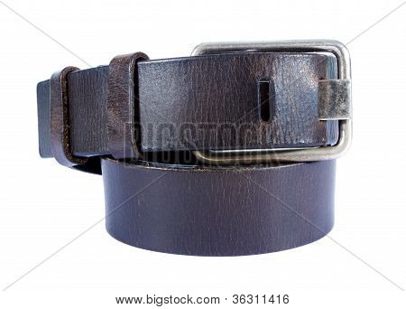 Brown Lather Belt