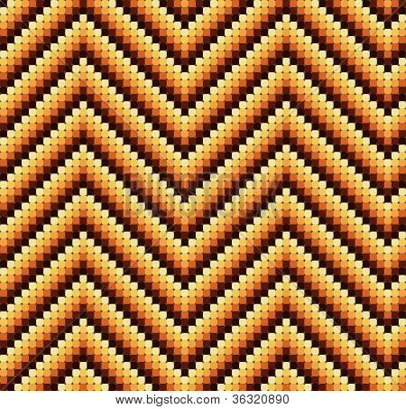 Seamless 60's Retro Zigzag Pattern Warm
