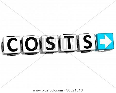 3D Costs Button Click Here Block Text