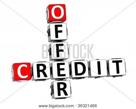 3D Offer Credit Crossword
