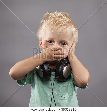 Little Boy With Headphones