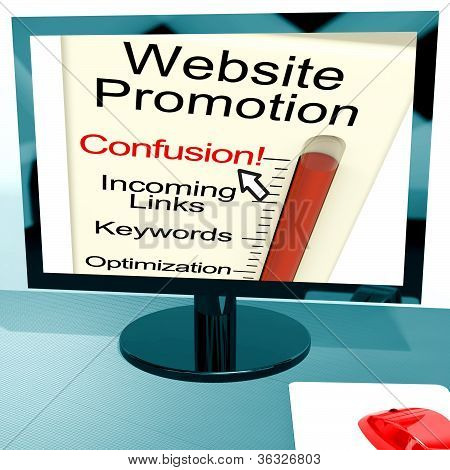 Website Promotion Confusion Shows Online Seo Strategy