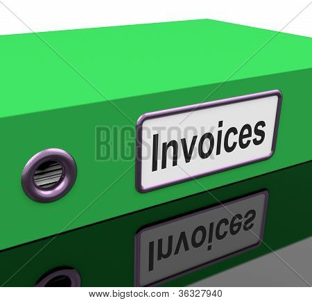 Invoices File Show Accounting And Expenses