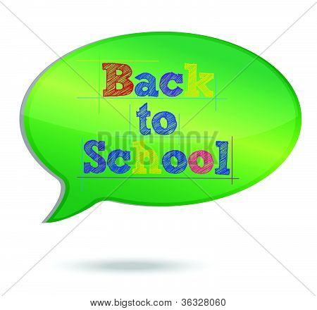 Back to School Message bubble illustration design over white background
