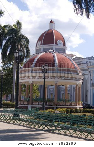 Dome Of A Building And Rotunda  In Cienfuegos City Centre, Cuba