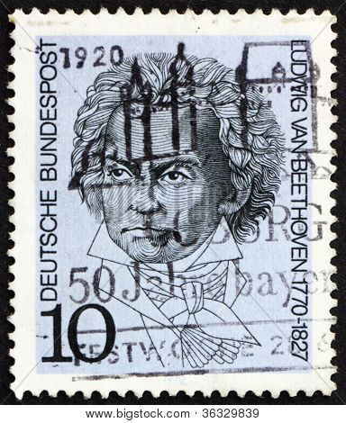 Postage stamp Germany 1970 Ludwig van Beethoven