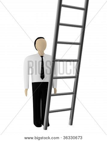 The Man And A Ladder