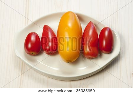 Five Oblong Tomatoes