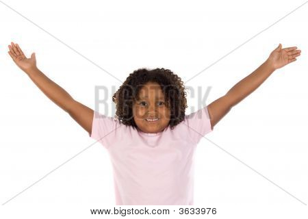 African Girl With Her Arms Outstretched