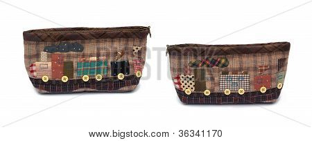 Quilting bag isolated on a white background