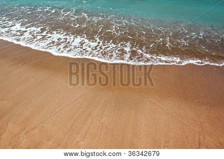 Beautiful Beach And Ocean Waves