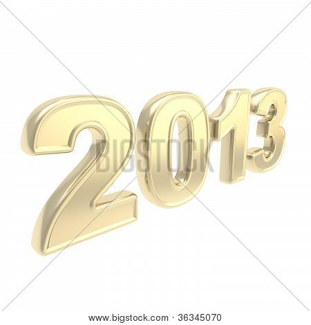 "Year ""2013"" Two Thousand And Thirteen Golden Symbol"