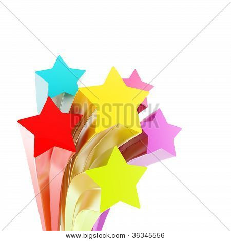Star Curve Arc Isolated As Copyspace Background