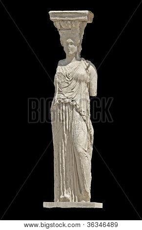 Greek ancient statue of a Caryatid