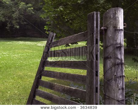 Open Wood Gate
