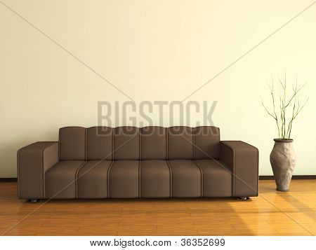 Interior With The Big Sofa