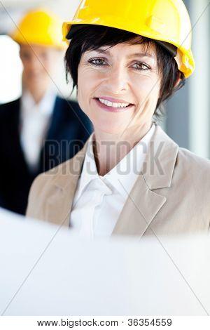 smart happy middle aged architect closeup portrait