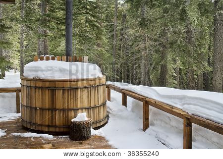 Winter Hot Tub