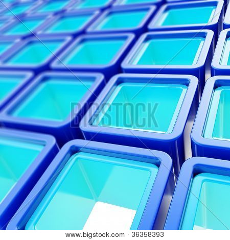 Abstract Background Of Colorful Cube Cell Composition