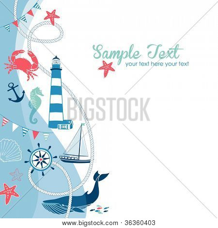 Nautical border with space for your text
