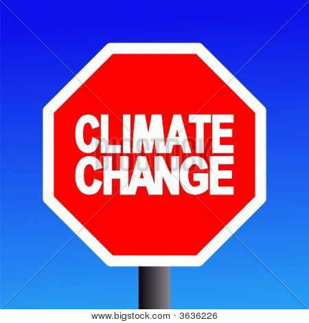 Stop Climate Change Sign