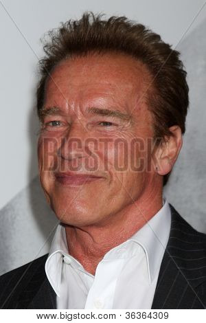 Los Angeles - AUG 15:  Arnold Schwarzenegger arrives at the