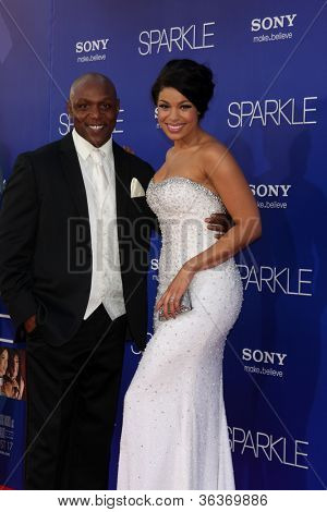 Los Angeles - AUG 16:  Jordin Sparks, with Dad arrives at the