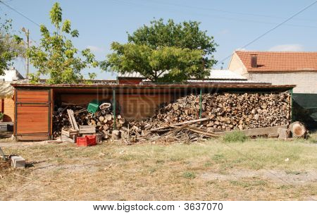 Farm Wood Stockpile