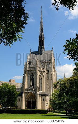 Heinz Chapel on the campus of the University of Pittsburgh in Pittsburgh, Pennsylvania.