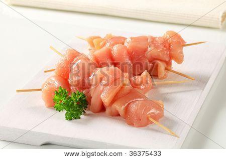 Fresh meat skewer