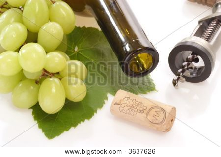 Wine With Corkscrew
