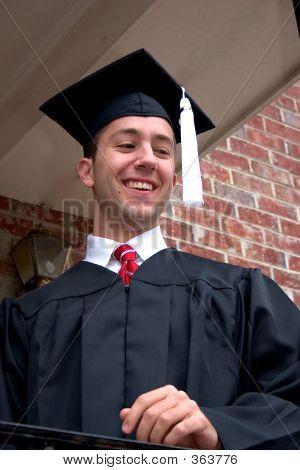 Smiling Boy Graduate