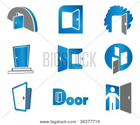 Door. Set elements for use as a emblem or icon