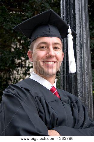 Proud Male Graduate