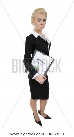 Lady With Financial Reports