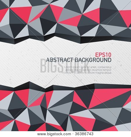 Abstract triangle background with space for text. Vector illustration, EPS10