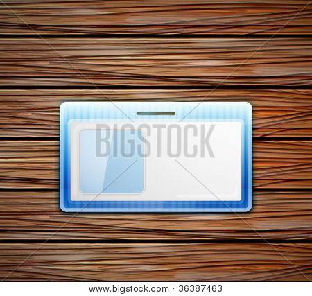 Vector empty id card