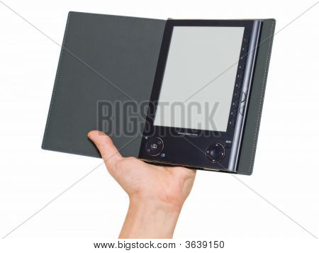 Digital Book Reader In Hand