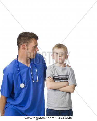 Angry Young Patient With Doctor