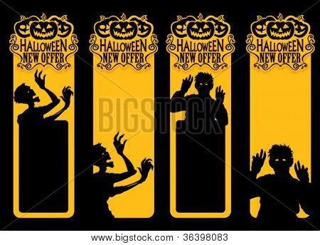 Zombie Halloween New Offer Labels