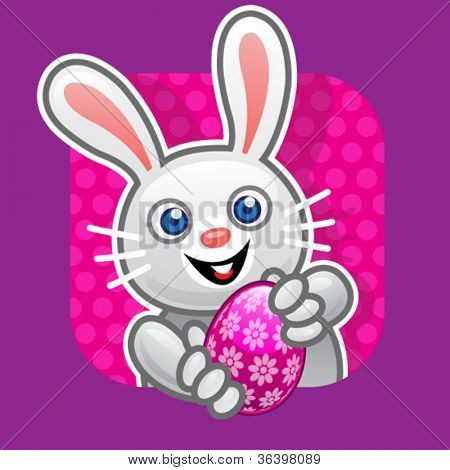 Easter Bunny Offering Egg Illustration