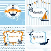 image of four-wheel  - Set of 4 Nautical cards - JPG