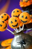 image of cake-ball  - Halloween cake pops - JPG