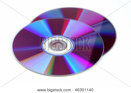 CD DVD, Isolated On White Background