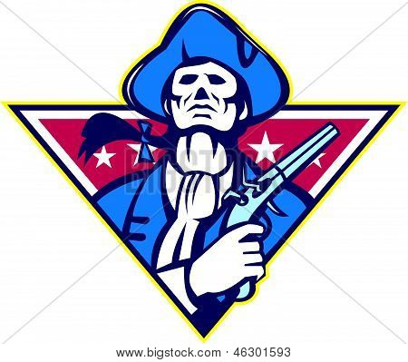 American Patriot Minuteman Flintlock Pistol